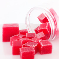 40% Off YEAR END SALE - Sugar Scrub Cubes - Fresh Picked Strawberry - 8 oz. Jar