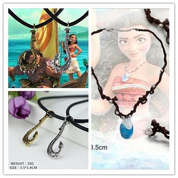 vaiana Moana Necklace Key Ring Pendant Anime Figures Action Toy Figures One Piece Action Figure toys toothless dragon toys gift