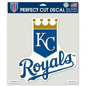 "KANSAS CITY ROYALS LOGO 8""X8"" COLOR DIE CUT DECAL BRAND NEW WINCRAFT"