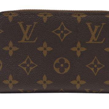 Louis Vuitton Monogram Zippy Compact Wallet M40499 Authentic F/S from Japan EMS