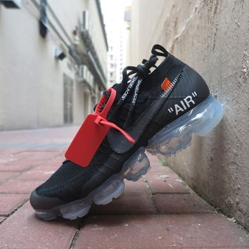 BC DCCK Off White X Nike Air Vapormax Flyknit  The Ten  - Black/Clear/Total Orange #AA3831-002
