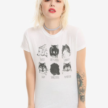 Game Of Thrones Dire Wolves Girls T-Shirt