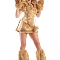 Sexy Womens Furry Bear Adult Halloween Costume