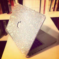 35% off Crystal AB crystal laptop cover fr Macbook pro 13 handmade w/ Swarovski element ss20