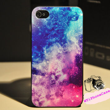 blue iPhone 4 Case universe iPhone 4 case Galaxy by WTiPhoneCase