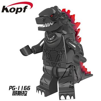 PG1166 Super Heroes American Science Fiction Monster Movie Godzilla Red X man Dolls Building Blocks Model For Children Gift Toy