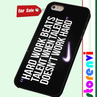 Nike Quote Hard Work Design custom case for smartphone case