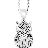 Women's LAGOS 'Rare Wonders - Owl' Long Talisman Necklace
