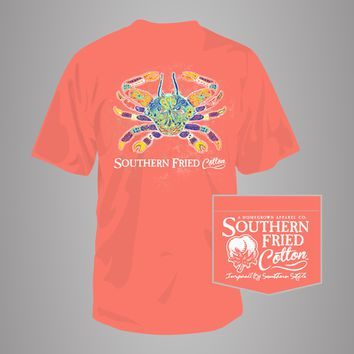 Southern Folk Crab - Adult Pocket T-Shirt