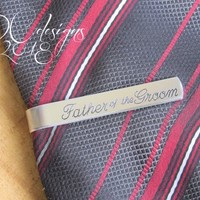 Father of the Bride, Father of the Groom, Dad Gifts, Personalized Tie Bar, Custom Tie Bar, Engraved Tie Clip, Wedding Gift