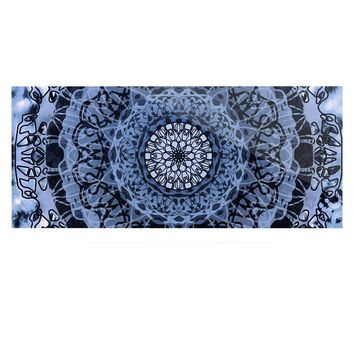 "Nina May ""Tie-Dye Mandala Jain Blue"" Blue White Watercolor Luxe Rectangle Panel"