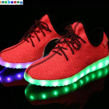 Hot Style Children Shoes Light Led luminous Sneakers Boys Girls USB Charging Sport Casual Shoes For Kids Glowing Sneakers