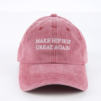 The Great Again Dad Hat in Maroon Mineral