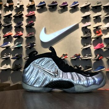 """[ Free  Shipping ]Nike Air Foamposite Pro """"Silver Age"""" 616750-004 Running Sneaker"""