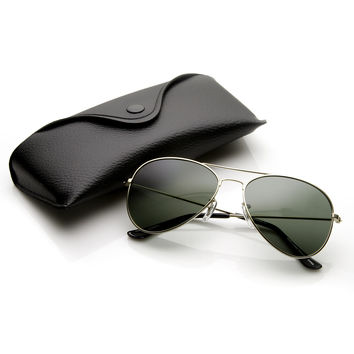 Limited Edition Classic Metal Tear Drop Aviator Polarized Sunglasses + Case 6010