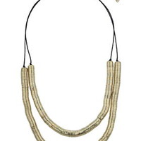 Two Layer Cap Necklace - Gold
