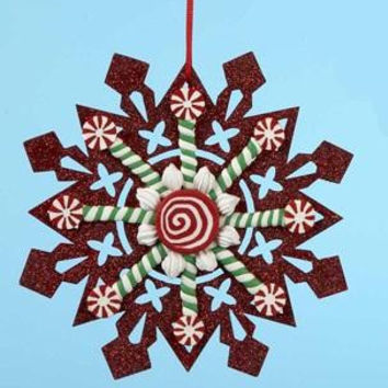 Christmas Ornament - Red Glitter Accents