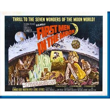 First Men In The Moon Movie poster Metal Sign Wall Art 8in x 12in