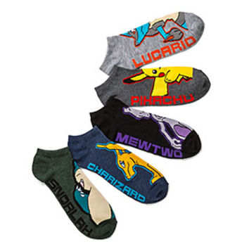 Pokemon Evolutions Low Cut 5-pack Socks