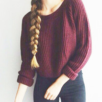 Women's Casual Slim Thick Long Sleeve Knitted Pullover Sweater Jumper