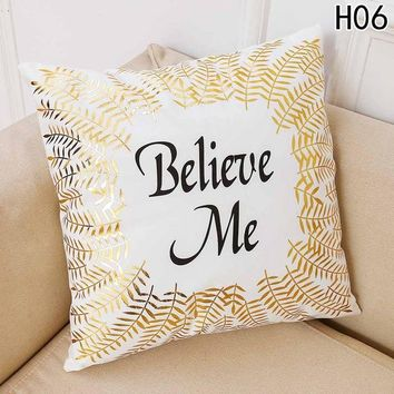 Merry Christmas Snowflake Throw Pillow Cover