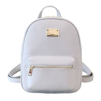 Girls Or Women's Backpack Faux Leather