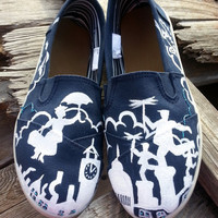 Women's Disney Mary Poppins Handpainted Custom Toms