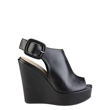 Made In Italia Clotilde Women Black Wedges