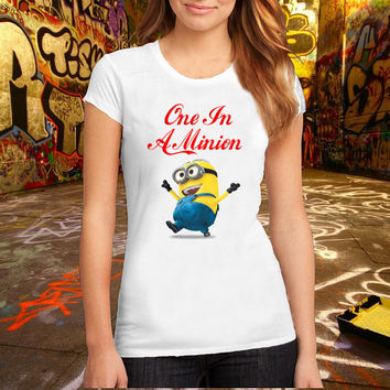 One In A Minion T Shirt Printed T Shirt, Women T Shirt, (Various Color Available)