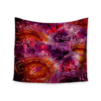 "Suzanne Carter ""Gem Stone"" Red Pink Wall Tapestry"