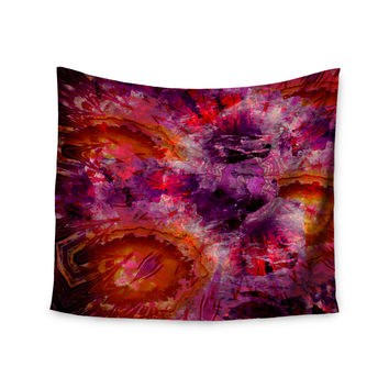"""Suzanne Carter """"Gem Stone"""" Red Pink Wall Tapestry"""