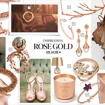Rose gold jewelry, accessories & inspiration: rose gold moodboard