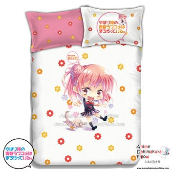 New Yui Yuigahama - My Teen Romantic Comedy Japanese Anime Bed Blanket or Duvet Cover with Pillow Covers ADP-CP151220