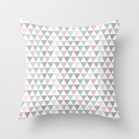 Pastel Pattern Throw Pillow by HelloM