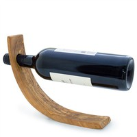 Olive Wood Wine Bottle Holder (491573852), Flights & Racks