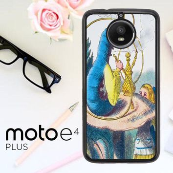Alice In Wonderland Hookah Caterpillar V1381 Motorola Moto E4 Plus Case