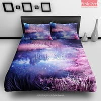 Infrared Photography Galaxy Bedding Sets Home Gift Home & Living Wedding Gifts Wedding Idea Twin Full Queen King Quilt Cover Duvet Cover Flat Sheet Pillowcase Pillow Cover 073