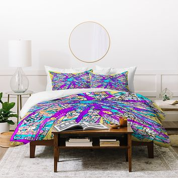 Ingrid Padilla Purple Petals Duvet Cover