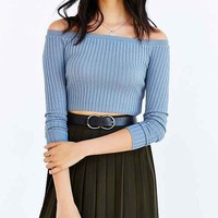 Kimchi Blue Ribbed Off-The-Shoulder Top