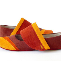 Women ballet flats slippers Gea house shoes earth by LaLaShoes