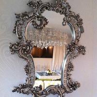 Fabulous and Baroque — Fabulous Claudette Baroque Mirror - Silver Leaf - Client Photo - Fabulous & Baroque