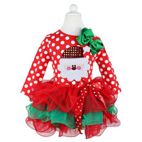 Ai Meng Baby New Year Winter Baby Girl Dress Santa Snowman Children Clothing Girl Christmas Costume Outfits Kids Ball Party Wear