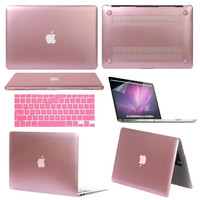 Mosiso 3 in 1 Soft-Skin Hard Shell Cover Rubberized Laptop Case for Apple Macbook Air 13 13.3 inch with Keyboard Cover