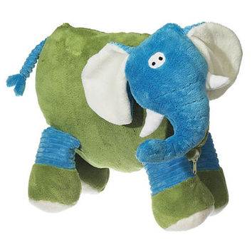 Adorable Soft Plush Blue Elephant  Pillow  Custom Embroidered Monogram