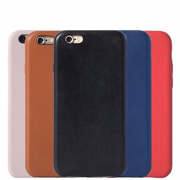 with Logo Case For Iphone 6 6s 7 leather Cover for Iphone6 6s 7 Plus 5.5'' Coque Fundas Capa