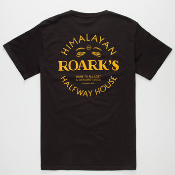 Roark Halfway House Mens T-Shirt Black  In Sizes