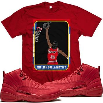 Jordan 12 Gym Red Sneaker Tees Shirt to Match - ROOKIE CARD