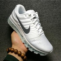 """NIKE"" Trending Fashion Casual Sports Shoes AirMax section White"