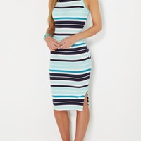 Blue Striped Bodycon Dress | Midi Dresses | rue21