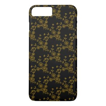 Floral Spray, BLACK GOLD-iPhone 7 Plus CASE
